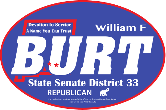 Bill Burt New Mexico Senator Mobile Logo